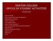 DARTON COLLEGE OFFICE OF STUDENT ACTIVITIES