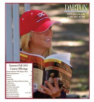 summer classes - Darton College