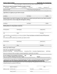 Darton State College Application for Graduation - Darton College