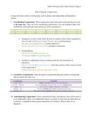 Conjunctions - Darton College
