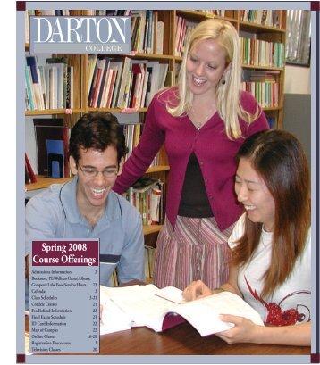 Spring 2008 Course Offerings - Darton College