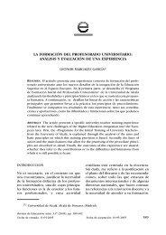 3.La formacion del profesorado universitario. Analisis y evaluacion ...