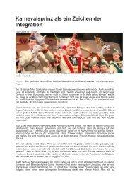 Zeitungsbericht über unseren Prinzen 2013 - kg-heggen.de