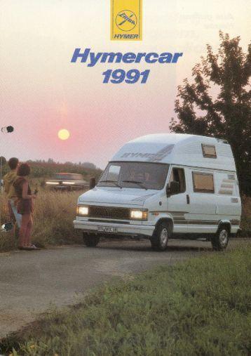 Hymercar 1991 - Prospekt - Wir lieben Oldtimer