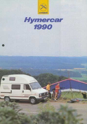 Hymercar 1990 - Prospekt - Wir lieben Oldtimer