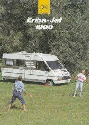 Eriba Jet 1990 - Prospekt - Wir lieben Oldtimer
