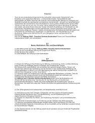 Satzung Stiftung TANZ - Transition Zentrum Deutschland 17.12 ...