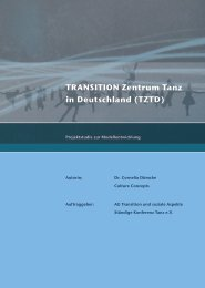 TRANSITION Zentrum Tanz in Deutschland (TZTD) - Stiftung TANZ