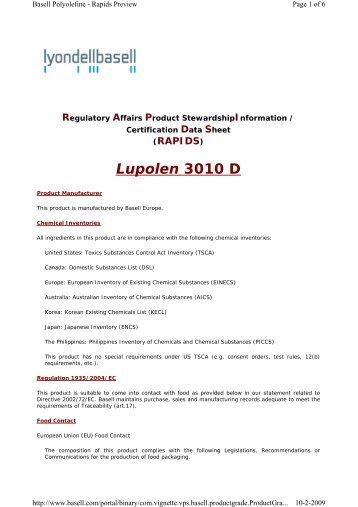 Lupolen 3010 D - Schmolke Carbon