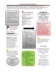 Committee Responsibilities - Montana Chamber of Commerce
