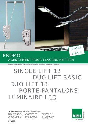 single lift 12 duo lift basic duo lift 18 porte-pantalons ... - VBH - Hody