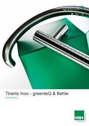 Tirants Inox - greenteQ & Behle - VBH - Hody