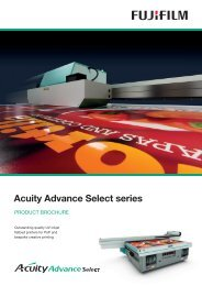 EU3210 Acuity Advance UV flatbed series Brochure ... - Fujifilm Sericol