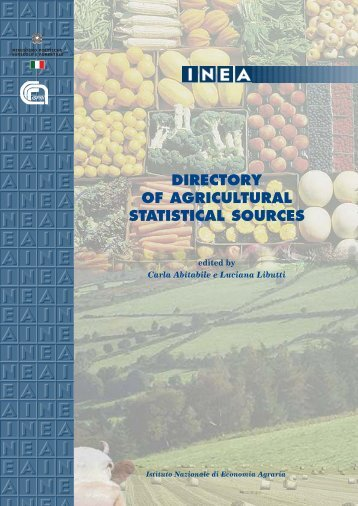 DIRECTORY OF AGRICULTURAL STATISTICAL SOURCES - Inea
