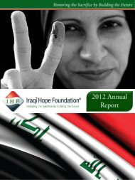 2012 Annual Report - Iraqi Hope Foundation