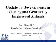 Animal Agriculture Biotechnology Issues, Cloning and Beyond