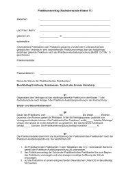 Praktikumsvertrag (Fachoberschule Klasse 11) - Berufskolleg ...
