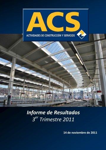 Informe Resultados 3T11 - Grupo ACS