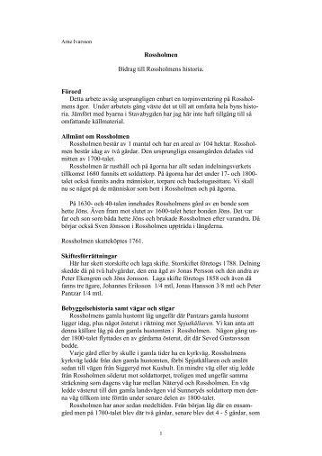 Rossholmen - Ödeshögs hembygdsbok