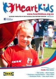 SA Newsletter Spring 2011 - HeartKids SA