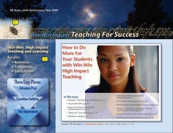 Teaching For Success Ezine Vol.19 No.6 - El Camino College