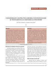 Consideratii asupra incadrarii patofiziologiei si tratamentului ...
