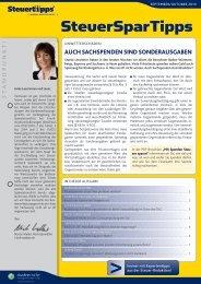 SteuerSparTipps - Steuertipps.de