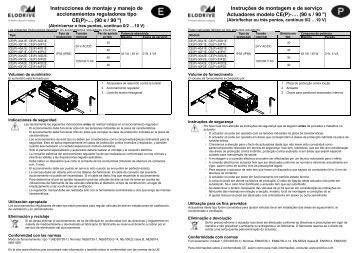 Instrucciones de montaje y manejo de accionamientos ... - Elodrive.de