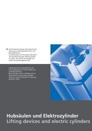 Katalog Hubsäulen und E-Zylinder - AVS Phoenix Mecano