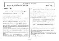 Sujet de Mathématiques I TSI 2009 - Concours Centrale-Supélec