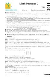 Mathématiques 2 - Concours Centrale-Supélec