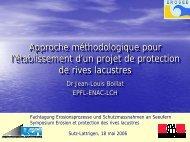 Comportements morphologiques et dynamiques des cours d - Erosee