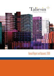 Annual Report and Accounts 2009 - Taliesin