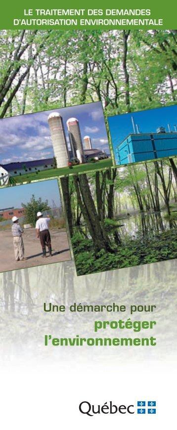 Télécharger la brochure - Développement durable, environnement ...