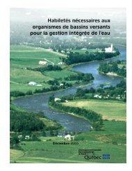 Habiletés nécessaires aux organismes de bassins versants pour la ...