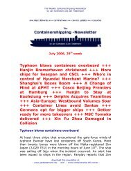 Typhoon blows containers overboard +++ Hanjin Bremerhaven ...