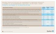 Nouveau plan d'action sur les changements climatiques 2006-2012 ...