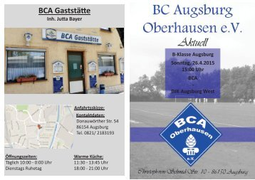 Derbytime in Oberhausen - BCA - DJK Augsburg West