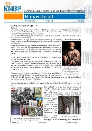 026 knbf juni 2012 - Eerste Kerkraadse Philatelisten Vereniging
