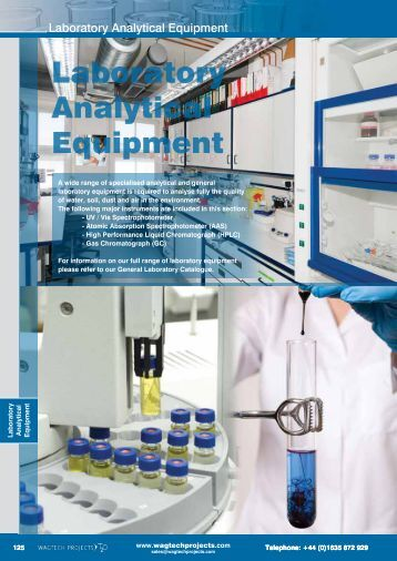 Laboratory Analytical Equipment - Wagtech Projects Ltd