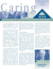 June/July 2003 - Alberta Continuing Care Association