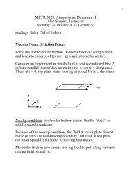 METR 3123, Atmospheric Dynamics II Alan Shapiro, Instructor ...