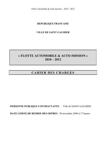 Cahier des charges Flotte automobile et Auto-Missions - Site officiel ...