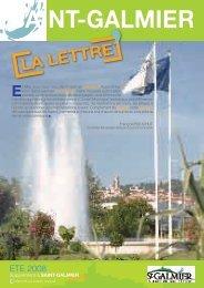 La Lettre N°1 - Site officiel - Mairie de Saint-Galmier