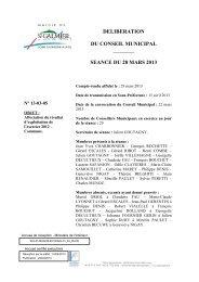 Affectation du résultat d'exploitation de l'exercice 2012 - Commune.