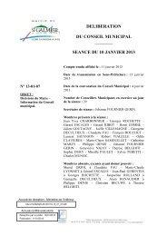 Décisions du Maire - Site officiel - Mairie de Saint-Galmier