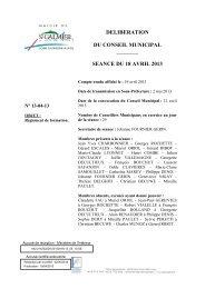 Règlement de formation - Site officiel - Mairie de Saint-Galmier
