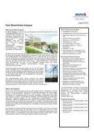 Fact Sheet Erste Campus [pdf; 181.2 KB] - Erste Group