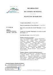 Convention chantiers éducatifs - Année 2013 - Site officiel - Mairie ...