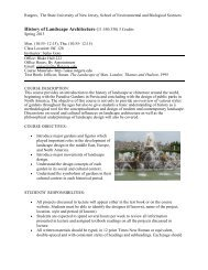 History of Landscape Architecture (11:550:330) 3 Credits